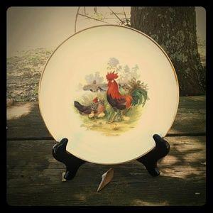 Vintage collectible chicken plates